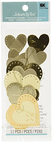 Dimensional Heart (Jolee's By You Dimensional Sticker, Gold Heart)