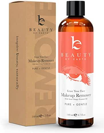 Makeup Remover; with Organic and Natural Ingredients; Gentle, Oil Free Ultra Lightweight Liquid for Easy Removing and Cleansing Eye or Face Make up; Use With Pads, Wipes or Face Towels All Skin Types