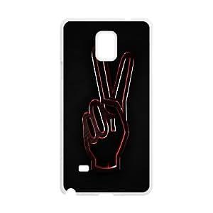 {Funny Series} Samsung Galaxy Note 4 Case Keep Calm 2, Anti-Slip Case Okaycosama - White