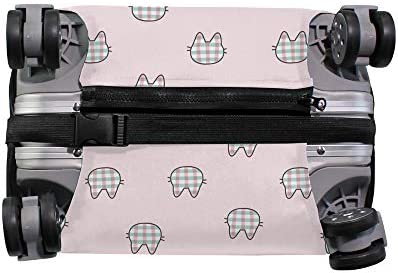スーツケースカバー ピンク 猫 伸縮素材 キャリーバッグ お荷物カバ 保護 傷や汚れから守る ジッパー 水洗える 旅行 出張 S/M/L/XLサイズ