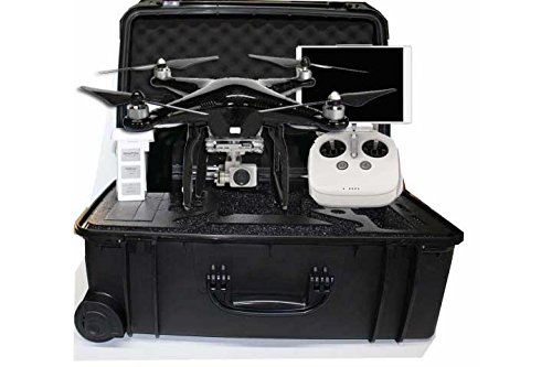 DJI Phantom 3 Professional Limited Edition Carbon Fiber Color Bundle Kit Includes 1 Battery and a Hard Case and Carbon Fiber Propellers Quadcopter Drone w 4K UHD Video Camera