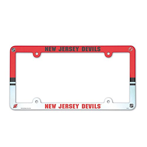 WinCraft NHL New Jersey Devils License Plate with Full Color -