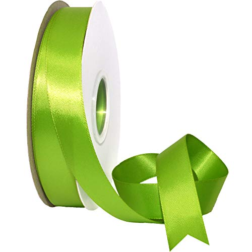 Morex Ribbon 088 Double Face Satin Ribbon, 7/8 Inch by 50 Yards, Kiwi