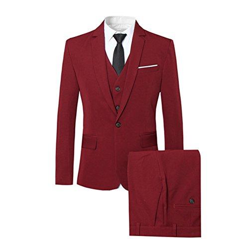 Mariage Business Veste Homme Pcs 3 Pantalon Costume Allthemen Rouge  Cérémonie Gilet I6w05zHq b2070fb01ca
