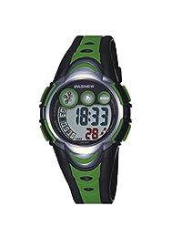 BesWlz Kids Outdoors Sport Watch Led Light Digital Waterproof Watches for Boys Girls (Green)