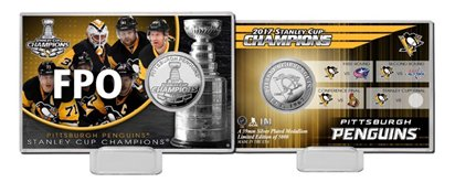 Pittsburgh Penguins 2017 Stanley Cup Champions Highland Mint Silver Coin Card