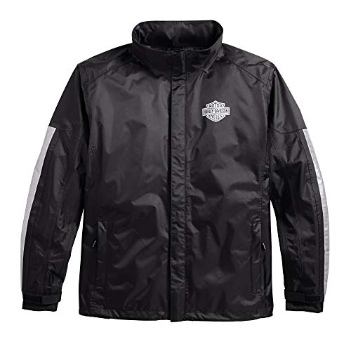 Harley-Davidson Official Men's Rain Jacket, Black ()