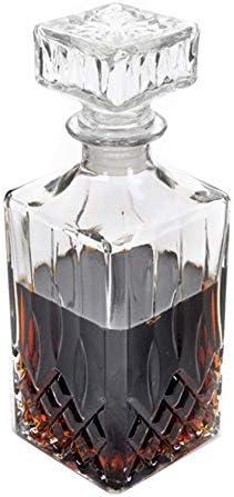 Takestop® - Botella de cristal con tapón transparente de 1000 ml para whisky, limoncello, meloncelo, nogal, melancelo, licor, vino