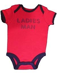 Boy's S/S Red Ladies Man Bodysuit