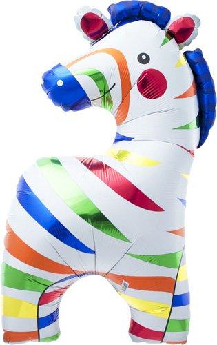 Safari Costume Ideas (Zebra Helium Foil Balloon - 35 inch)