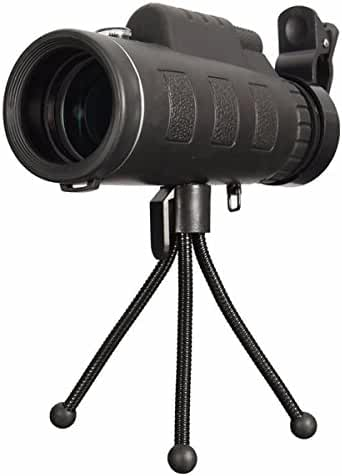 OUTERDO 20x60 Dual Focus Monocular Portable HD Spotting Scopes Optical Prism Telescope With Tripod For Hands Free Viewing Scope For Wildlife Hunting Camping Surveillance Sporting Events Traveling
