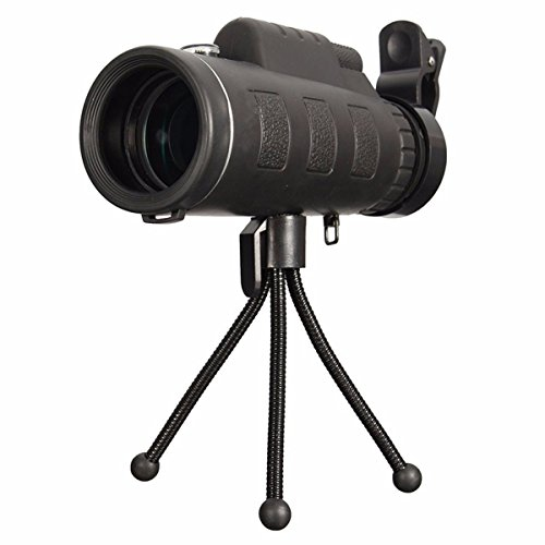 OUTERDO 40x60 Dual Focus Monocular Telescope Portable HD Dual Focus Optical Prism Telescope With Tripod For Hands Free Viewing Scope For Wildlife Hunting Camping Surveillance Sporting Events Traveling