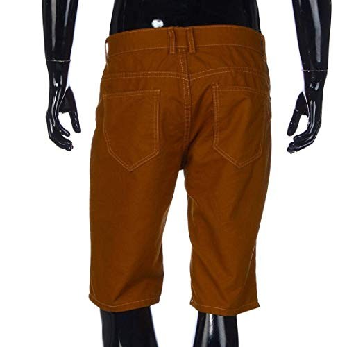 Braun Da Uomo Jeans Bermuda Vintage Pantaloncini Con Strappato Casual Giovane Bretelle RBvdUUZnw