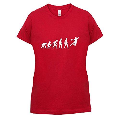 Evolution Of Man Handball - Femme T-Shirt - Rouge - M