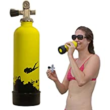 TANKH2O WATER BOTTLE: Great Gift and Accessory for Scuba Divers | Holds 800mL | Food-grade stainless steel, BPA-Free and FDA approved