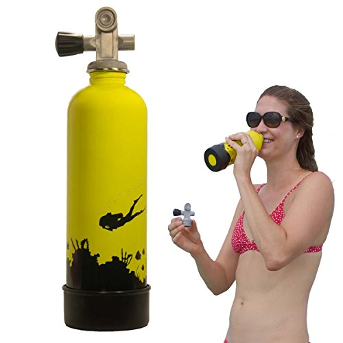 800 Ml Bottle (TANKH2O WATER BOTTLE: Great Gift and Accessory for Scuba Divers | Holds 800mL | Food-grade stainless steel, BPA-Free and FDA approved)