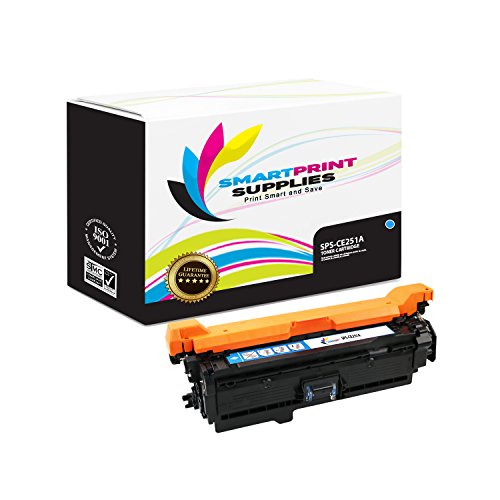Smart Print Supplies Compatible 504A CE251A Cyan Toner Cartridge Replacement for HP Laserjet CP3525 CM3530 Printers (7,000 Pages)