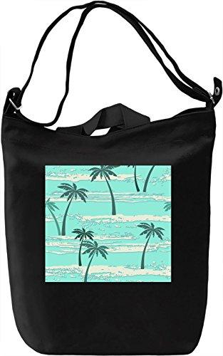 Palms Pattern Borsa Giornaliera Canvas Canvas Day Bag| 100% Premium Cotton Canvas| DTG Printing|