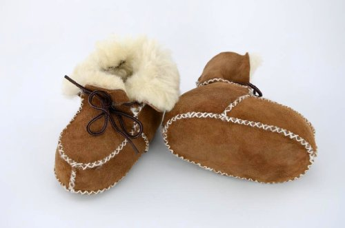 Baby Lammfellschuhe mit Gummizug - #1410 hellbraun