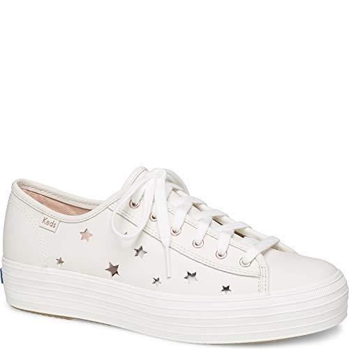 Keds Womens Triple Kick Star Leather Cream Leather Sneaker - 7.5