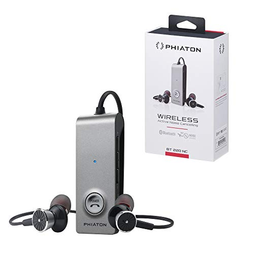 Phiaton BT 220 NC Wireless Bluetooth Headphones - Active Noise Cancelling Bluetooth Headphones with Long Battery Life and Wireless Headphone Mic