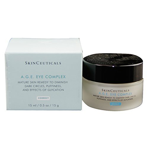 SkinCeuticals A.G.E. Eye Complex 0.5 oz Moisturizing Anti Aging Eye Cream with Vitamin E Helps Reduces Dark Circles, Puffiness and Crow's Feet 0.5 Ounce Moisturizing Cream