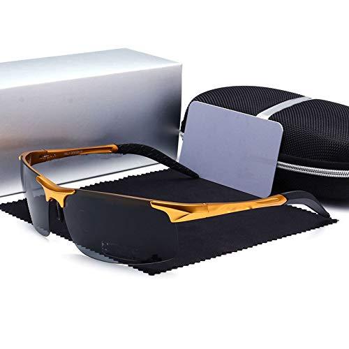 Conduce de marrón Aluminio Hombre equitación de Polarizador Polarizado Gold Que magnesio Deportes Deportivas Gafas Mjia sunglasses y wZqngUOPZ