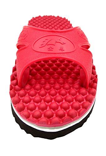 Meimei Massasje Flip-flops Unisex Tøfler Miljøvennlige, Anti Skli Og Komfortabel Flate Sandaler Rød
