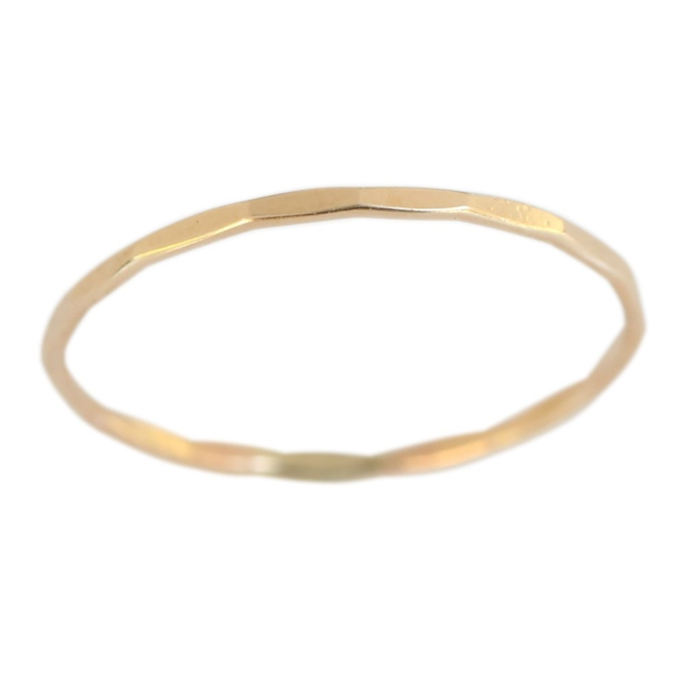 14k Gold Filled 1mm Thin Faceted Plain Band Midi Toe Ring (5)
