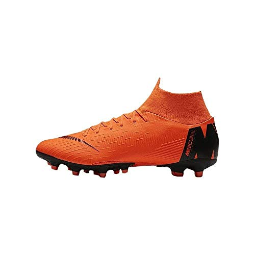 Nike Mercurial Superfly 6 Pro FG Acc Flyknit Soccer Cleats (8 M US, Total Orange/Volt)