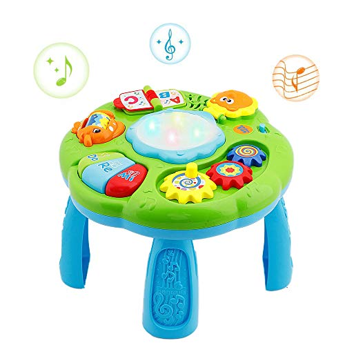 HANMUN Musical Learning Table Baby Toy - Electronic Education Toys for Toddlers Early Development Activity Toy (Green)