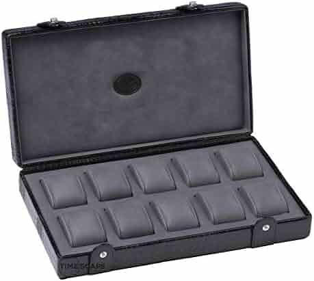 UNDERWOOD (LONDON) - 10 Croco Watch Storage Box | UN211/CBLK