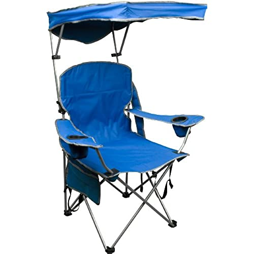 Quik Shade Adjustable Canopy Folding Camp Chair   Royal Blue