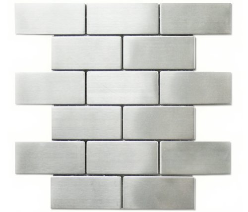 Stainless Steel Subway Brick Kitchen Backsplash Bathroom Mosaic Tile   Glass  Tiles   Amazon.com