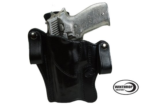 Winthrop Holsters IWB Dual Snap Holster Left Hand Black For Sig Sauer P226 or P226 with Rail - Sig Sauer Rail P226