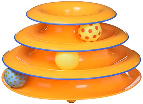 Petstages Cat Tracks Cat Toy – Fun Levels of Interactive Play – Circle Track with Moving Balls Satisfies Kitty's Hunting…