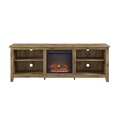 Cheap Thaweesuk Shop Natural TV Stand Media Fireplace Electric Heater Choose Color for TVS up to 75