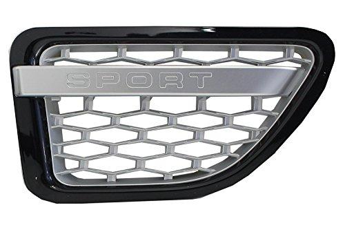 color negro brillante compatible con RR Sport L320 05-09 Konnekt Rejilla de ventilaci/ón lateral y rejillas de ventilaci/ón laterales