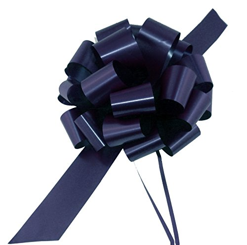 Large Navy Blue Ribbon Pull Bows - 9