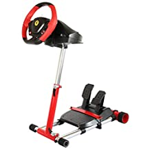Red Racing Steering Wheelstand for Original Thrustmaster F458(Xbox 360 Version), F458 Spider(Xbox One) T80, T100, RGT, Ferrari GT and F430; Wheel Stand Pro V2 Stand: Wheel and Pedals Not included