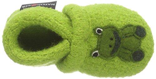 Haflinger Quak - Patucos de lana para niño verde - Grün (98 canarygreen)