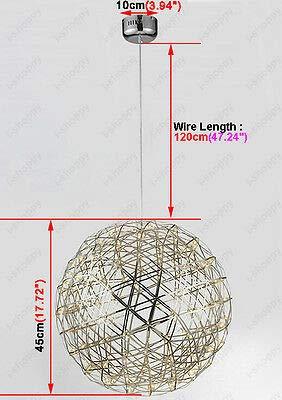 FidgetGear 6W/10W/15W LED Firework Pendant Light Ball-Shape Ceiling Lamp Fixture Canteen 15W(45cm/18) by FidgetGear