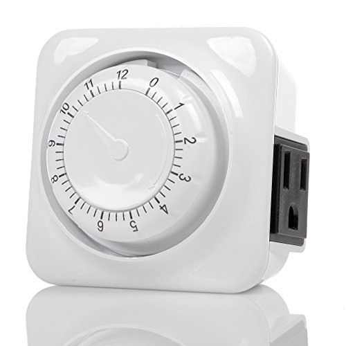Century Mechanical Countdown Timer with Grounded Pin - Energy Saving (Power Outlet Countdown Timer compare prices)