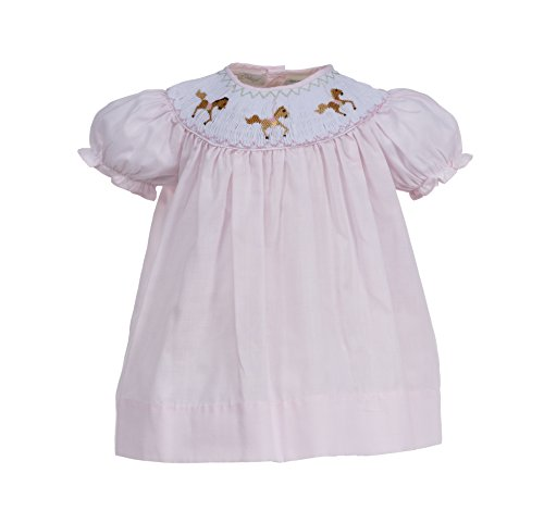 Dresses Infant Bishop (Carriage Boutique Baby Girl Pink Horse Bishop Dress)