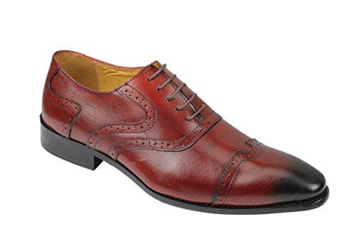 Xposed Chaussures de Ville à Lacets Pour Homme Rouge Bordeaux 9rg2oqR3BJ