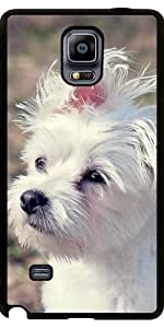 Funda para Samsung Galaxy Note 4 (N910) - Linda Mascota Perro Blanco by WonderfulDreamPicture