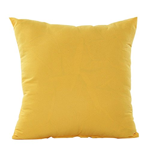 Square Plain Simple Design Pillow Case Cushion Cover 45X45cm 7 Solid Candy Colors (Plain Throw Pillow Insert compare prices)
