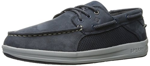 SPERRY Boys' Gamefish Boat Shoe, Navy, 13 Wide US Little Kid ()