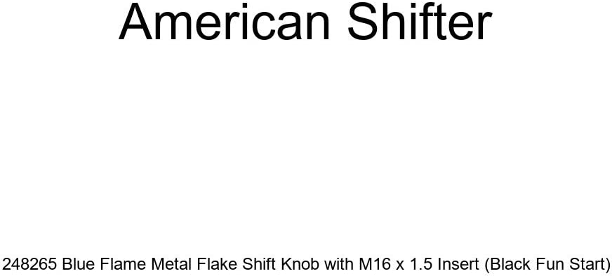 American Shifter 229822 Clear Flame Metal Flake Shift Knob with M16 x 1.5 Insert Green Flower Power