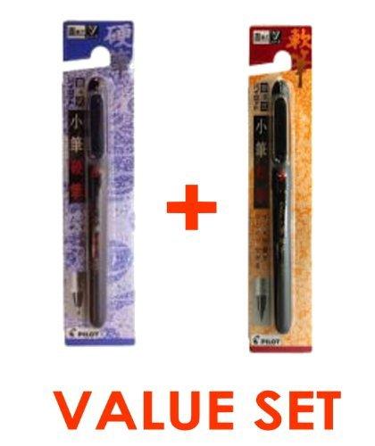 Pilot Pocket Brush Pen - soft Type & Hard Type 2 Pens Arts Value set - 2 Pen Pockets